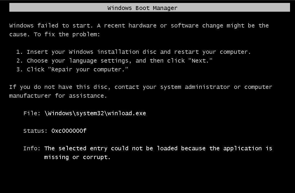 "How to Avoid or Fix ""winload.exe corrupt"" in Windows Vista"