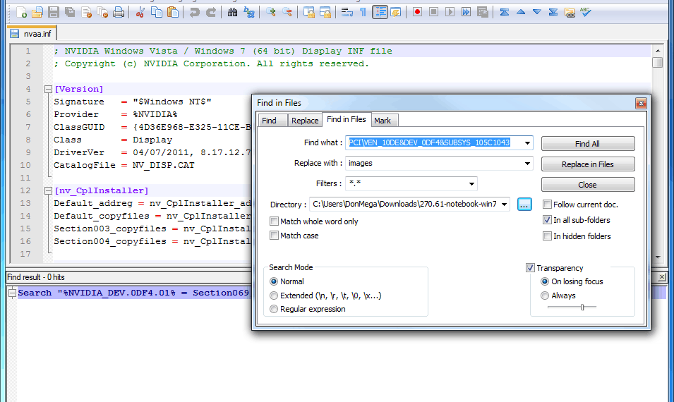 Find Hardware ID in File