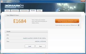 Asus K53SV 3DMark11 nVidia GT540M