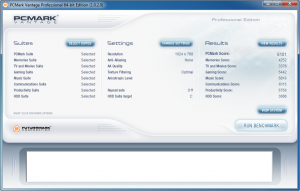 Asus K53SV PCMark Vantage Benchmark nVidia