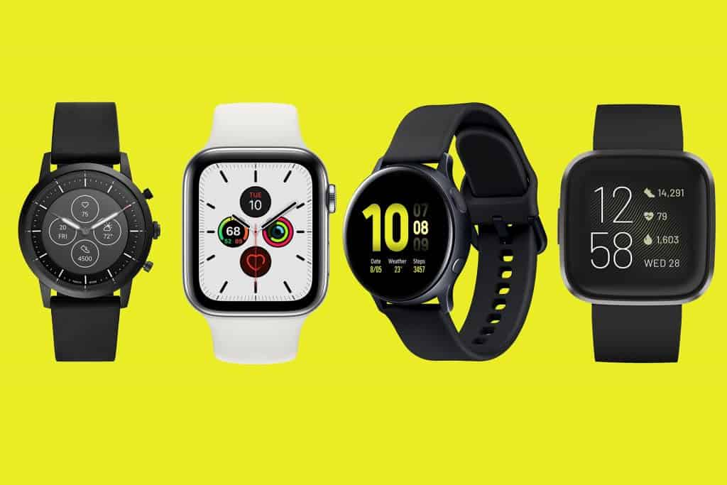 four smartwatches