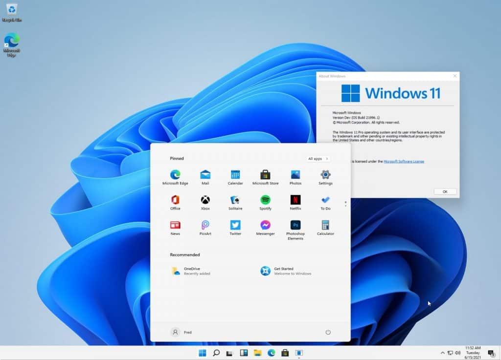windows 11 desktop look