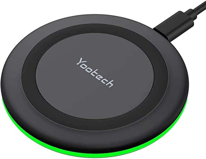 front side qi-enabled wireless charger from the yootech brand