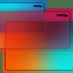 resolution size vector illustrations